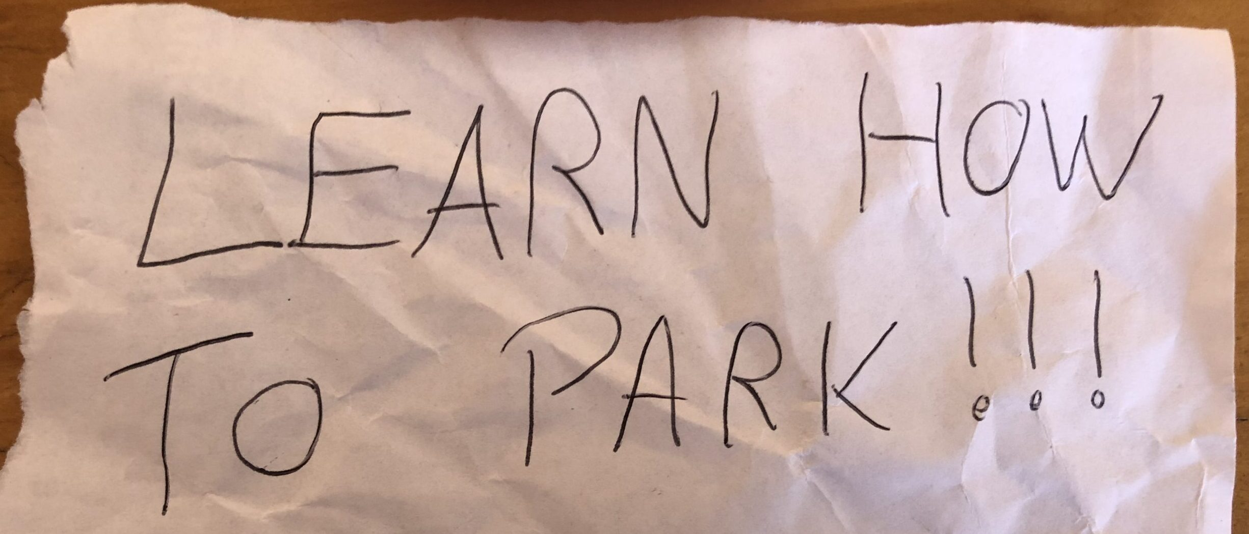 LEARN HOW TO PARK!!! response